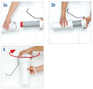 Gehäuse auftisch Wasserfilter öffnen